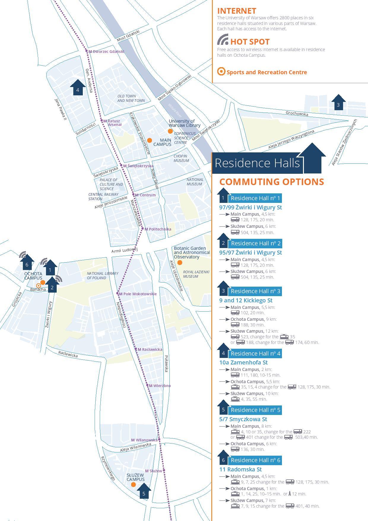 Residence Halls map (PDF)