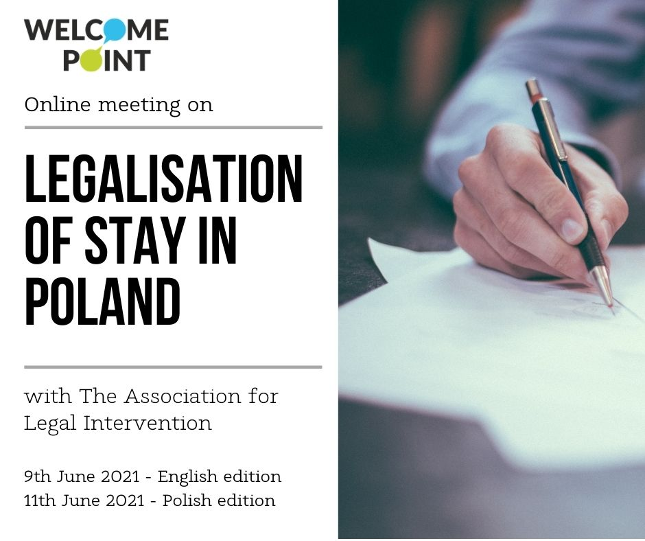 Online meeting on legalisation of stay in Poland with the Association for Legal Intervention.