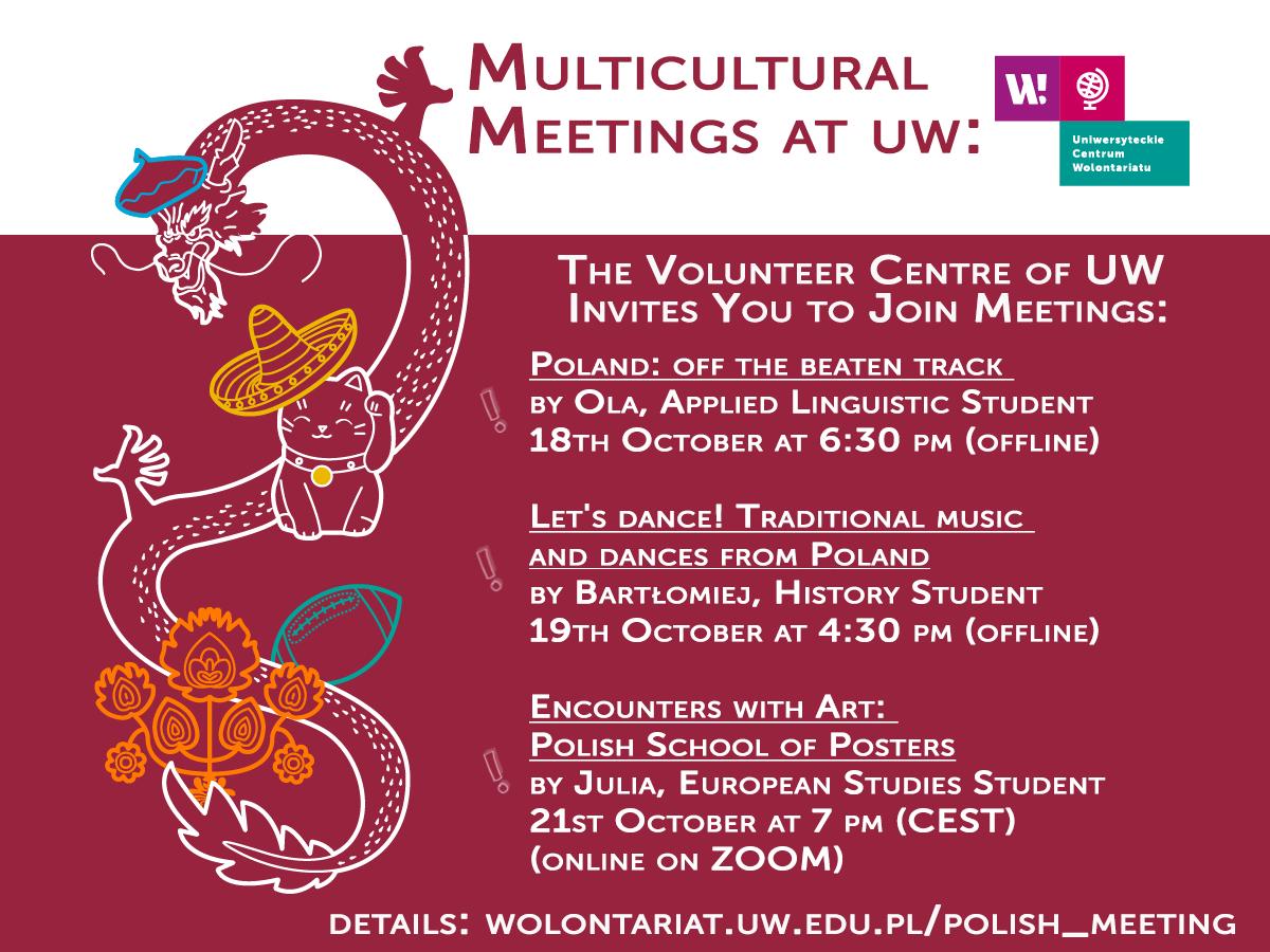 Multicultural Meetings at UW organised by The Volunteer Centre of UW